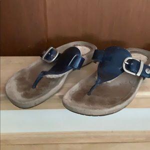 Blue UGG sandals